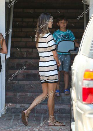 Alessandra Ambrosio and her son, Noah Phoenix Mazur