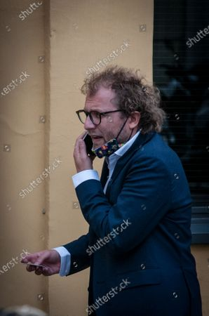 ROME ITALY - JULY 15 Luca Lotti MP of the Democratic Party , near Palazzo Montecitorio, seat of the Chamber of Deputies  on July 15, 2020 in Rome , Italy.