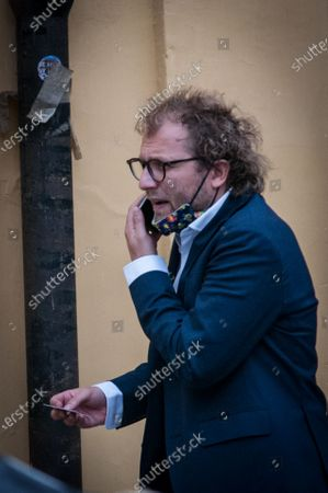 Stock Image of ROME ITALY - JULY 15 Luca Lotti MP of the Democratic Party , near Palazzo Montecitorio, seat of the Chamber of Deputies  on July 15, 2020 in Rome , Italy.