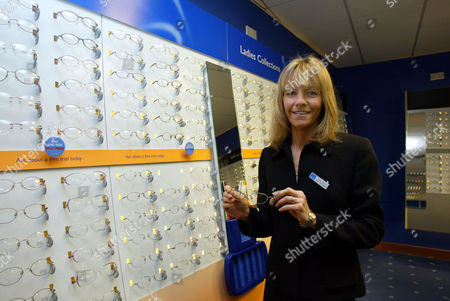 Marathon Runner Tracey Morris At Her Work Dolland And Aitchison Opticians Leeds Yorkshire ...... Tracey Morris Who Surprised Herself And The Rest Of The Country By Winning A Place In Britain's Olympic Team With Her Performance At The Flora London Marathon.