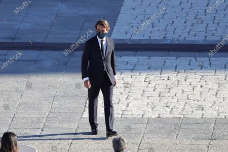 Spanish former prime minister Jose Maria Aznar arrives at the parade ground of the Royal Palace to attend the state tribute to coronavirus disease (COVID-19) victims and people working on the front line in the fight against the pandemic, in Madrid, Spain, 16 July 2020. The ceremony is to be chaired by Spain's King Felipe VI.