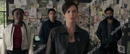 KiKi Layne as Nile, Luca Marinelli as Nicky, Charlize Theron as Andy and Marwan Kenzari as Joe