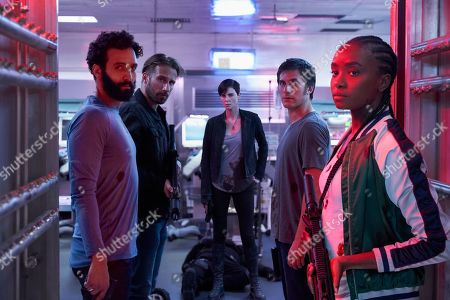 Marwan Kenzari as Joe, Matthias Schoenaerts as Booker, Charlize Theron as Andy, Luca Marinelli as Nicky and KiKi Layne as Nile