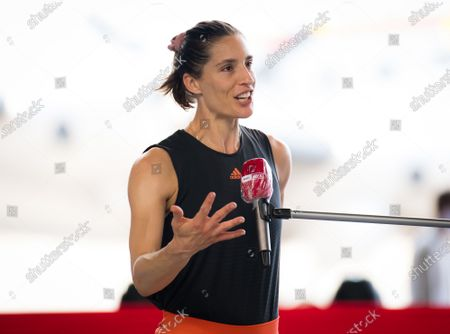 Andrea Petkovic of Germany in action during Day 6 of the 2020 bett1ACES exhibition tournament