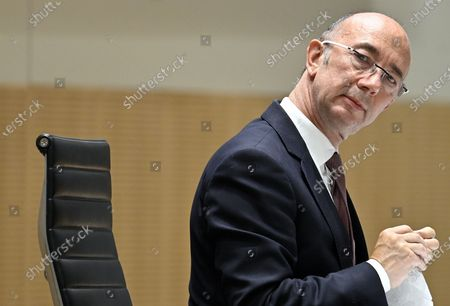 Stock Image of Federation Wallonia - Brussels parliament Chairman Rudy Demotte pictured during a plenary session of the parliament of the Federation Wallonia Brussels (Federation Wallonie Bruxelles - Federatie Wallonie Brussel) in Brussels, Thursday 16 July 2020.