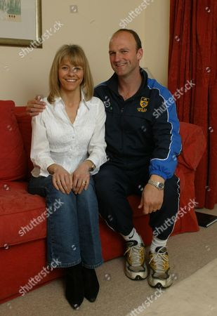 Marathon Runner Tracey Morris With Pe Teacher Husband Paul Near Her Home In Leeds. Tracey Morris Who Surprised Herself And The Rest Of The Country By Winning A Place In Britain's Olympic Team With Her Performance At The Flora London Marathon.