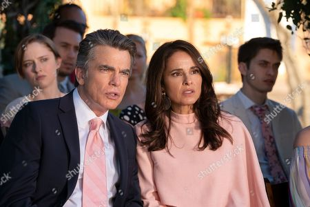 Stock Photo of Peter Gallagher as Howard and Jacqueline Obradors as Pia