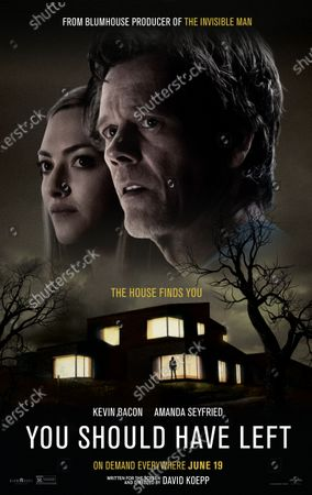 You Should Have Left (2020) Poster Art. Amanda Seyfried as Susanna Conroy and Kevin Bacon as Theo Conroy