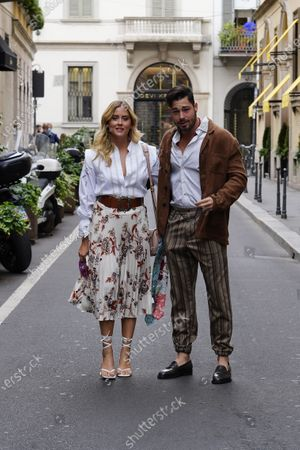 Stock Photo of Valentina Ferragni and Luca Vezil