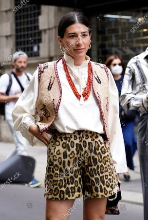 Editorial picture of Etro show, Arrivals, Milan Digital Fashion Week, Italy - 16 Jul 2020