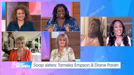 Stock Picture of Nadia Sawalha, Judi Love, Gloria Hunniford, Jane Moore, Tameka Empson, Diane Parish
