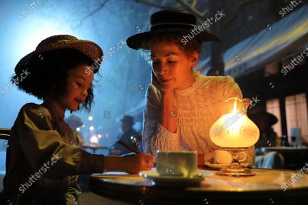 Indica Watson as Irene Aged 6 and Rosamund Pike as Marie Curie