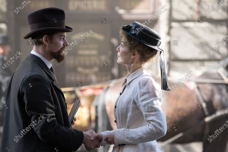 Sam Riley as Pierre Curie and Rosamund Pike as Marie Curie