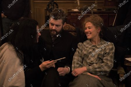 Marjane Satrapi Director, Rosamund Pike as Marie Curie and Sam Riley as Pierre Curie