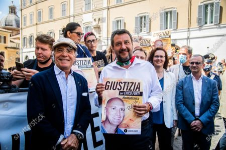 Editorial photo of Sit in to request the release of Chico Forti from the American authorities, Rome, Italy - 16 Jul 2020