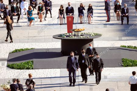 State tribute to COVID-19 victims and people working on the front line to fight the pandemic at Palacio Real. Former Prime Minister Mariano Rajoy