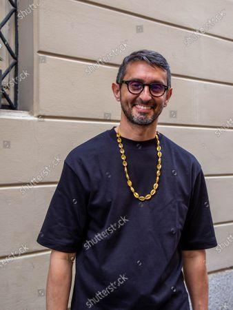 Milan fashion week 2020, Etro fashion show, guest, Simone Marchetti editor Vanity Fair.