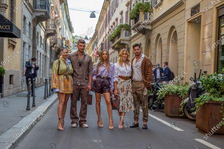 Milan fashion week 2020, Etro fashion show, guests the beautiful Beatrice Valli, Valentina Ferragni, Marco Fantini, Luca Vezil, Ginevra Mavilla, souvenir photos after the fashion show.