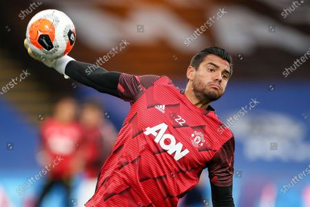 Manchester United Goalkeeper Sergio Romero warm up during the Premier League match between Crystal Palace and Manchester United at Selhurst Park, London