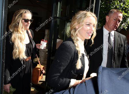 Stock Image of Amanda Heard leaves her hotel