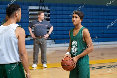 Mason Gooding as Andrew, Andy Richter as Coach Ford and Michael Cimino as Victor Salazar