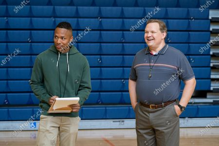 Stock Photo of Mason Gooding as Andrew and Andy Richter as Coach Ford