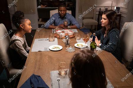 Stock Image of Rachel Hilson as Mia Brooks, Mekhi Phifer as Harold Brooks and Sophia Bush as Veronica