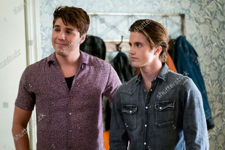 Lukas Gage as Derek and George Sear as Benji