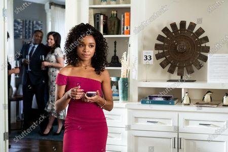 Stock Picture of Mekhi Phifer as Harold Brooks, Sophia Bush as Veronica and Rachel Hilson as Mia Brooks