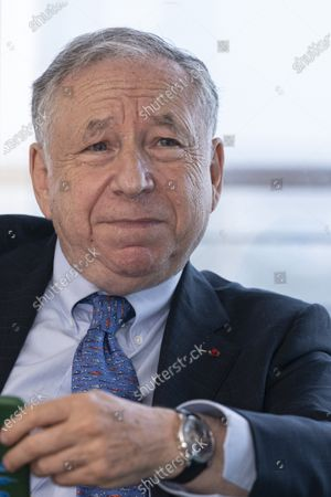 FIA President Jean Todt is seen during a conversation with Hungarian officials at Budapest Liszt Ferenc International Airport in Budapest, Hungary, 16 July 2020 (issued 17 July 2020), two days before the Formula One Grand Prix of Hungary.