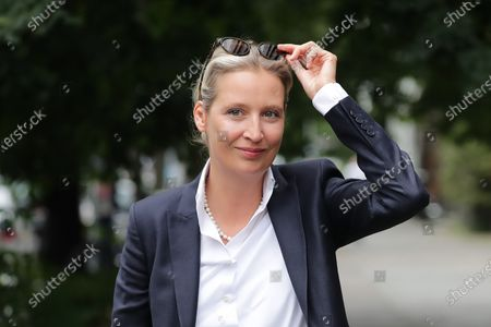 Alternative for Germany (AfD) faction leader in the German parliament Bundestag Alice Weidel arrives for a chair board meeting in Berlin, Germany, 17 July 2020.