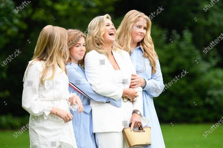 Queen Maxima of the Netherlands with her daughters Princess Amalia, Princess Alexia and Princess Ariane