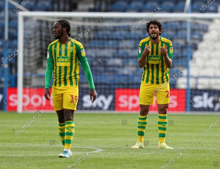 Ahmed Hegazi of West Bromwich Albion appeals during the game