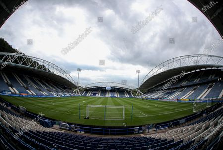 General view of the John Smith Stadium before the start of the match