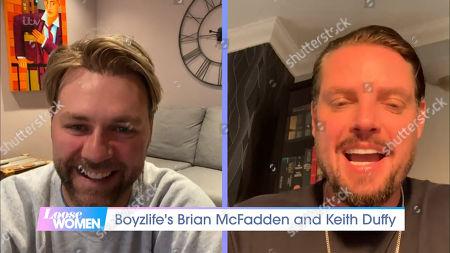 Stock Image of Brian McFadden and Keith Duffy