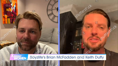 Stock Picture of Brian McFadden and Keith Duffy