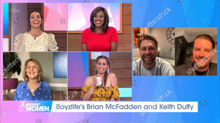 Christine Lampard, Kelle Bryan, Kaye Adams, Stacey Solomon, Brian McFadden and Keith Duffy