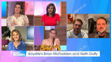 Stock Photo of Christine Lampard, Kelle Bryan, Kaye Adams, Stacey Solomon, Brian McFadden and Keith Duffy