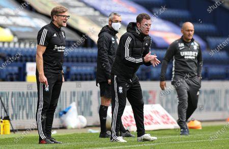 Birmingham City manager Craig Gardner & Steve Spooner