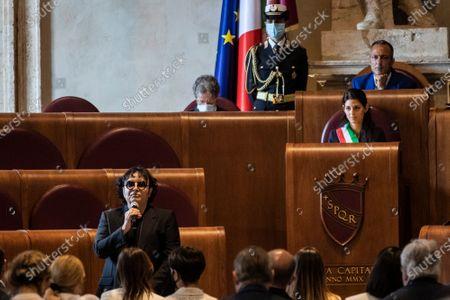 Editorial photo of Extraordinary Capitoline Assembly for the title of the Auditorium 'Parco della Musica' to Maestro Ennio Morricone, Rome, Italy - 17 Jul 2020