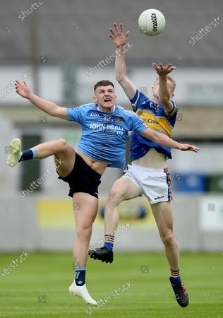 CBS Naas vs St. Joseph's Rochfortbridge. Rochfortbridge's Podge Quinn and Kevin Quinn of Naas