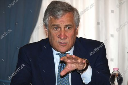 Vice President of Forza Italia party Antonio Tajani during the meeting with the Tuscan economic categories