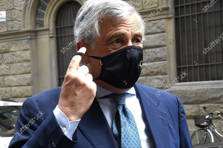 Editorial photo of Antonio Tajani meets the Tuscan economic categories, Florence, Italy - 17 Jul 2020