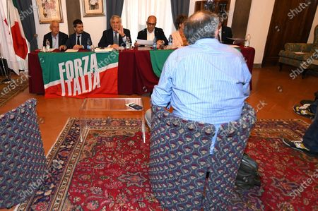 Editorial picture of Antonio Tajani meets the Tuscan economic categories, Florence, Italy - 17 Jul 2020