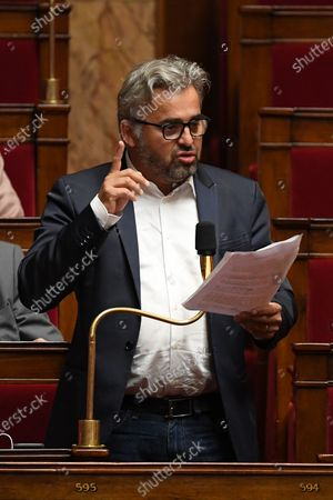 Alexis Corbiere during the session of questions to the government at the National Assembly