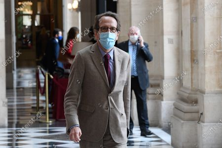 Stock Photo of Gilles Le Gendre after the session of questions to the gouvernement at the National assembly
