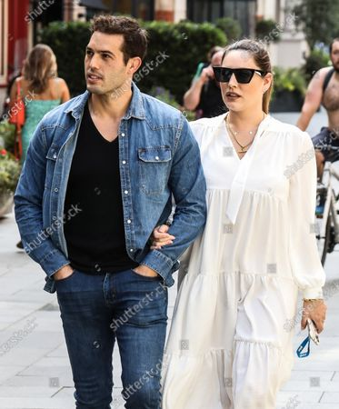 Editorial image of Kelly Brook and Jeremy Parisi out and about, London, UK - 17 Jul 2020