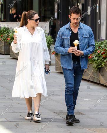 Editorial photo of Kelly Brook and Jeremy Parisi out and about, London, UK - 17 Jul 2020