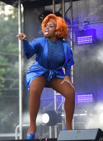 Monet X Change performs during Drive 'N Drag at Westfield Garden State Plaza, in Paramus, NJ.