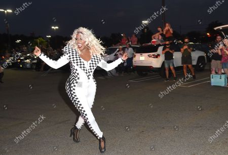 Editorial image of Drive 'N Drag, Westfield Garden State Plaza, Paramus, USA - 17 Jul 2020